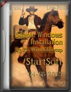 Simple Windows Installation By PE WinNTSetup StartSoft 64-65 2015 [Lite-Full] [Ru]