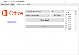 Office 2013-2019 C2R Install + Lite 7.07 b12 Portable by Ratiborus [Ru/En]