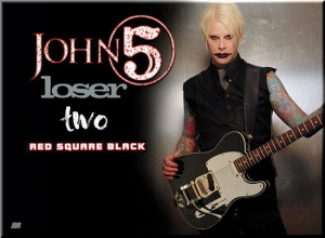 John 5 aka John William Lowery + Side Projects (Red Square Black, Two, Loser) - 32 Releases
