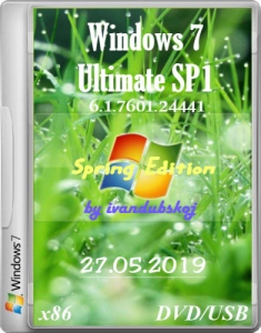 Windows 7 Максимальная SP1 (Spring Edition) Build 7601.24441 (x64) by ivandubskoj (07.06.2019) [Ru]