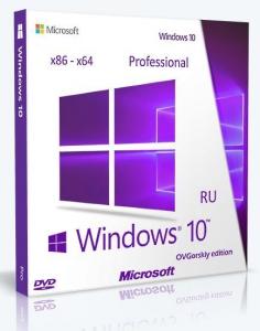 Microsoft® Windows® 10 Professional VL x86-x64 1903 19H1 RU by OVGorskiy® 05.2019 2DVD V2