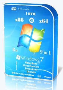Microsoft® Windows® 7 SP1 x86/x64 Ru 9 in 1 Origin-Upd 08.2020 by OVGorskiy 1DVD