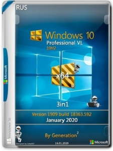 Windows 10 Pro VL x64 v.1909.18363.657 3in1 OEM Feb2020 by Generation2 [Ru]