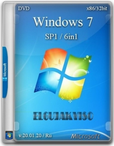 Windows 7 SP1 6in1 (x86) Elgujakviso Edition (v.20.01.20) [Ru]