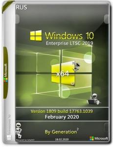 Windows 10 Enterprise LTSC 2019 x64 v.1809.17763.1039 Feb2020 by Generation2 [Ru]