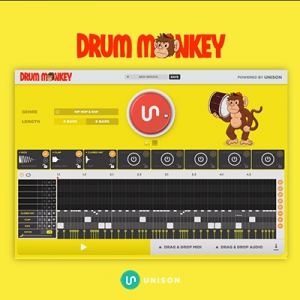 Unison - Drum Monkey 1.0.150 VSTi, VSTi3, AAX (x64) + Library RePack by R2R [En]